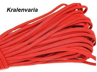 Paracord 550 Rood 4 mm dik