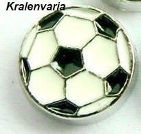 Floating charm voetbal 9,8 mm
