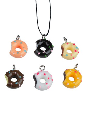 Acryl donuts mix ca. 17-18 mm Multicolor