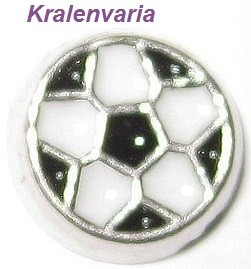 Floating charm bloem voetbal 6 mm