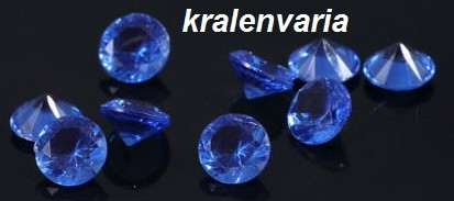 Floating charm kristal 5 mm Blauw