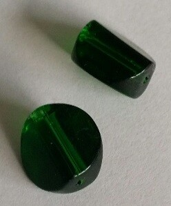 Glaskraal 11x10 mm Groen
