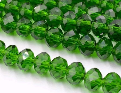 Glaskraal  8x5 mm Groen