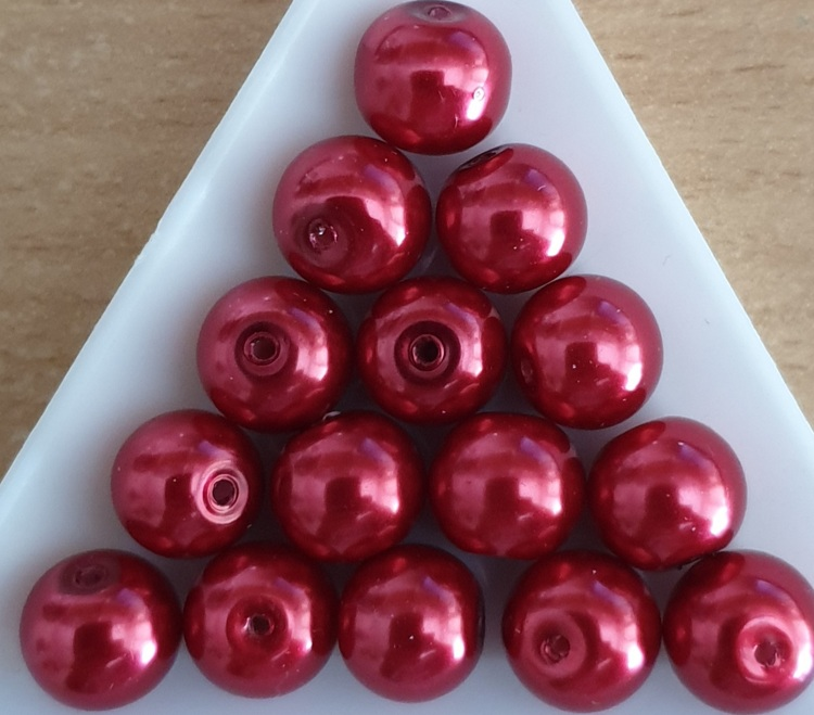Glasparel 10 mm Rood
