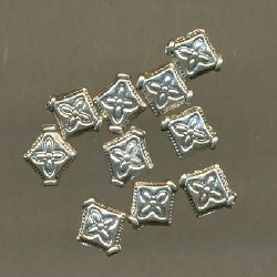 Metalen ruit 10x8 mm