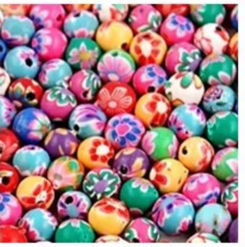 Fimo  kralenmix  8  mm Multicolor