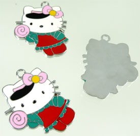 Hanger Hello Kitty 34x27 mm met epoxy