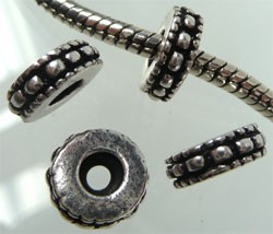 Pandora-style metalen stopper 11x4 mm