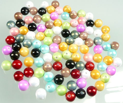 Acryl kralen mix  rond  10 mm Multicolor