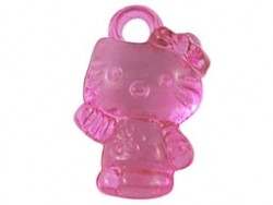 Acryl hanger  hello kitty 10x15 mm  Roze