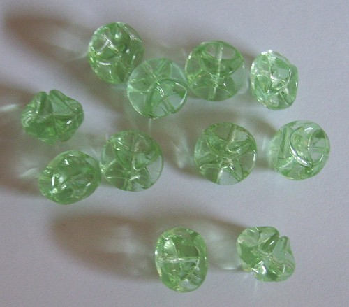 Glaskraal 10x8 mm Groen