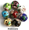 Cloisonne kralenmix 12 mm Multicolor