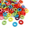 Mix acryl ringen ca. 9x2 mm Multicolor