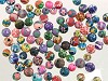 Fimo kralen mix bewerkt ca. 5-6 mm Multicolor