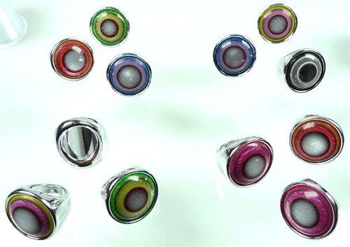Acryl ring 30x29 mm Multicolor