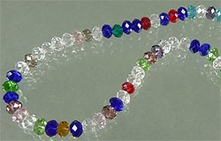 Mix glas kristal rondel facet geslepen met mooie glans ca. 4x3 mm Multicolor